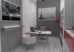 Amenajare Vila Bucuresti - birou, prezentare grafica 3d fotorealista, (unghi 1)