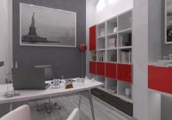 Amenajare Vila Bucuresti - birou, prezentare grafica 3d fotorealista, (unghi 3)