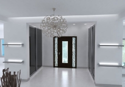 Amenajare Vila Bucuresti - hol intrare, prezentare grafica 3d fotorealista