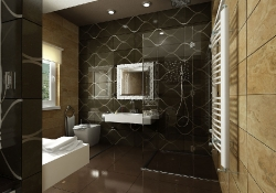 design de interior baie - amenajare baie, prezentare grafica 3d fotorealista, (unghi 2)