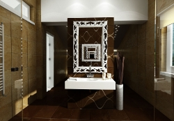 design de interior - amenajare interioara baie, prezentare grafica 3d fotorealista, (unghi 3)