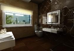 amenajare interioara baie, prezentare grafica 3d fotorealista, (unghi 5)