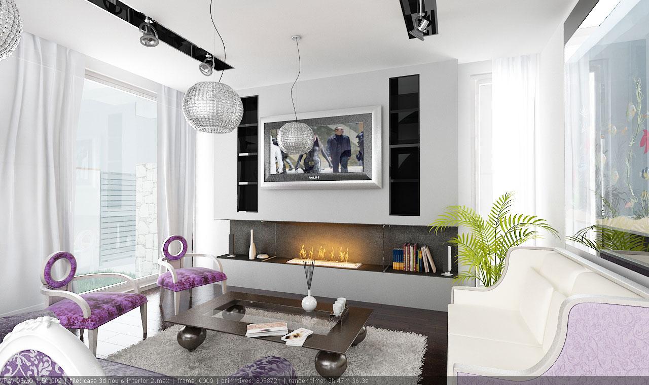 amenajare living apartament vila. Black Bedroom Furniture Sets. Home Design Ideas