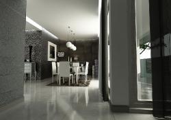 Design de interior - amenajare dinning cu prezentare 3D fotorelista , unghi 1