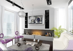 Design de interior - amenajare living stil glamour cu prezentare 3D fotorelista  (varianta 2) unghi 2