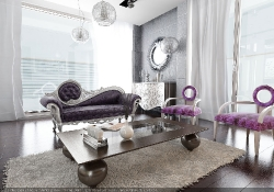 Design de interior - amenajare living stil glamour Design de interior - amenajare living stil glamour cu prezentare 3D fotorelista