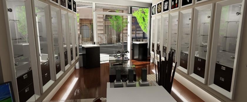 design de interior - Amenajare magazin de bijuterii